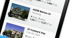 Search for homes on your movile device