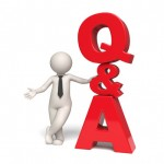 Q&A Icon - Questions and answers - 3d man - FAQ