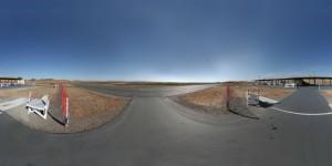 What the raw panoramic photo looks like.